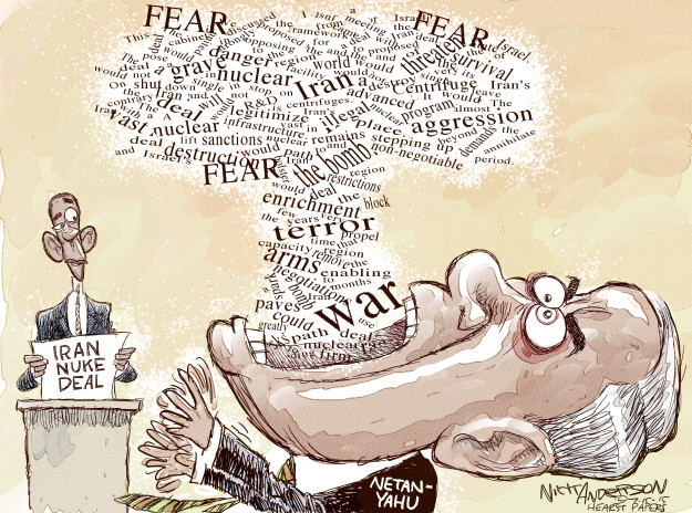 Cartoonist Nick Anderson  Nick Anderson's Editorial Cartoons 2015-07-15 Israel