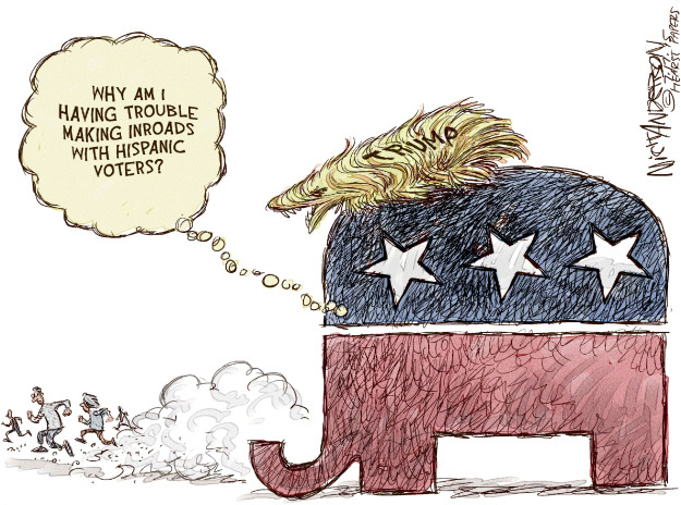 Cartoonist Nick Anderson  Nick Anderson's Editorial Cartoons 2015-07-17 Republican voter