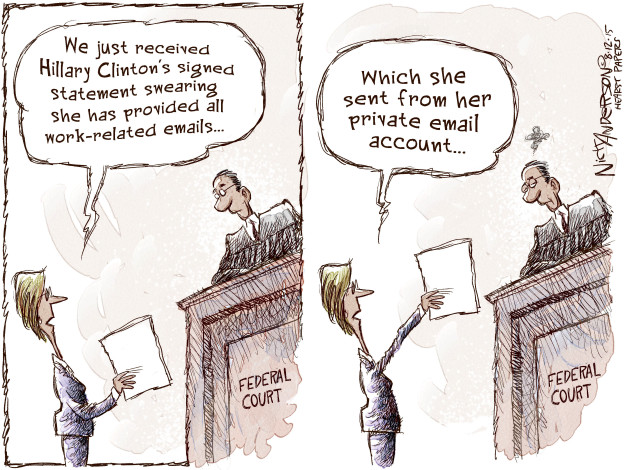 Cartoonist Nick Anderson  Nick Anderson's Editorial Cartoons 2015-08-12 presidential candidate