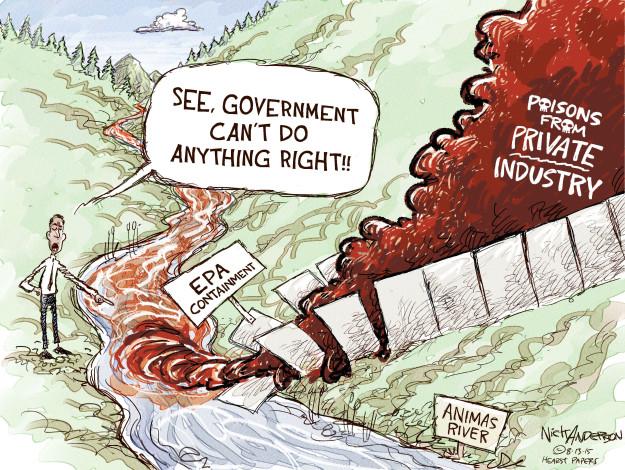 Cartoonist Nick Anderson  Nick Anderson's Editorial Cartoons 2015-08-13 barrier