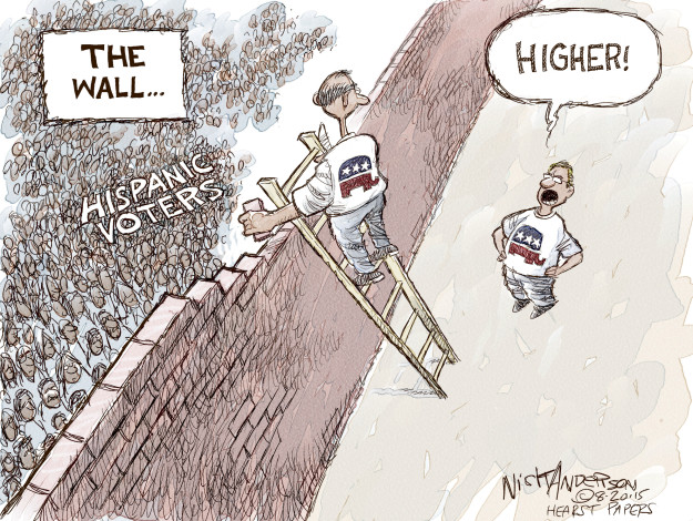 Cartoonist Nick Anderson  Nick Anderson's Editorial Cartoons 2015-08-20 Republican voter