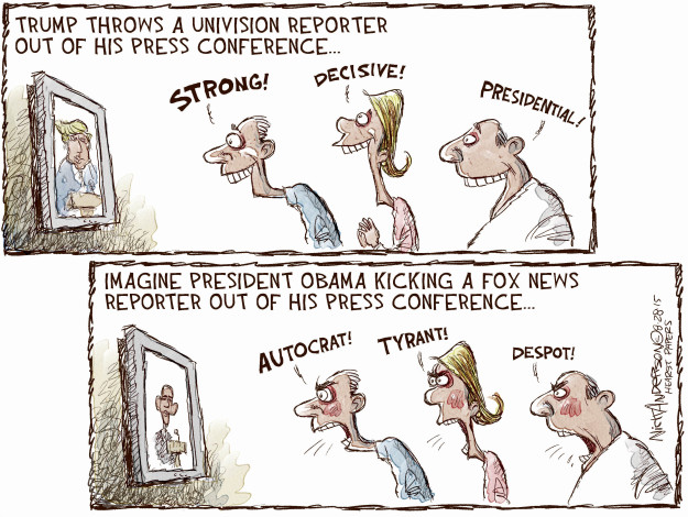 Cartoonist Nick Anderson  Nick Anderson's Editorial Cartoons 2015-08-28 presidential candidate