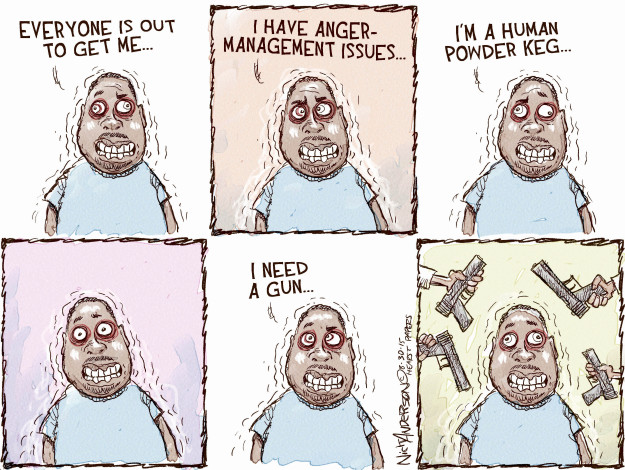 Cartoonist Nick Anderson  Nick Anderson's Editorial Cartoons 2015-08-30 paranoid