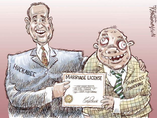 Nick Anderson  Nick Anderson's Editorial Cartoons 2015-09-09 Mike Huckabee