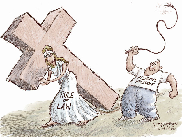 Nick Anderson  Nick Anderson's Editorial Cartoons 2015-09-11 rule of law