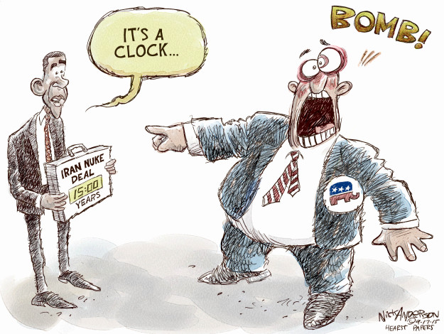 Cartoonist Nick Anderson  Nick Anderson's Editorial Cartoons 2015-09-17 nuclear weapon