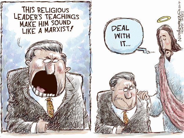 This religious leaders teachings make him sound like a Marxist! Deal with it …