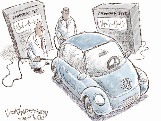 Cartoonist Nick Anderson  Nick Anderson's Editorial Cartoons 2015-09-23 automobile