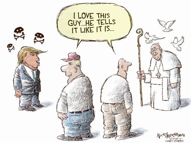 Cartoonist Nick Anderson  Nick Anderson's Editorial Cartoons 2015-09-25 rhetoric