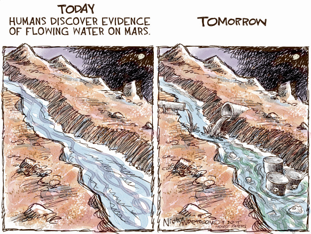 Cartoonist Nick Anderson  Nick Anderson's Editorial Cartoons 2015-09-30 human