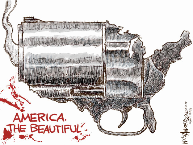 Cartoonist Nick Anderson  Nick Anderson's Editorial Cartoons 2015-10-02 murder