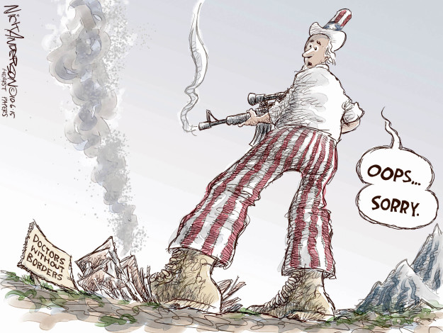 Cartoonist Nick Anderson  Nick Anderson's Editorial Cartoons 2015-10-06 United States Military