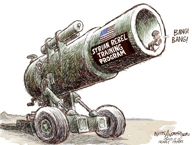 Cartoonist Nick Anderson  Nick Anderson's Editorial Cartoons 2015-10-11 United States Military