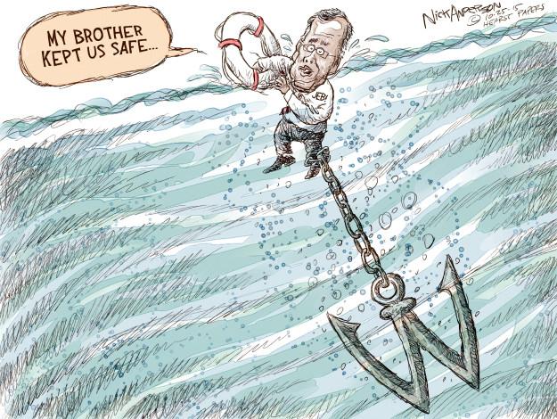 Cartoonist Nick Anderson  Nick Anderson's Editorial Cartoons 2015-10-25 George Bush
