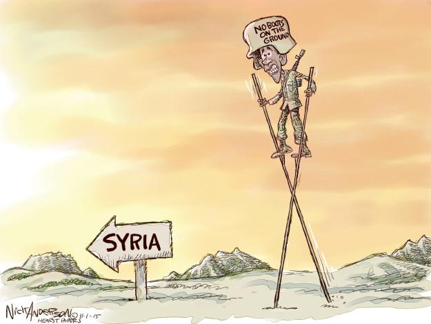 Cartoonist Nick Anderson  Nick Anderson's Editorial Cartoons 2015-11-01 defense