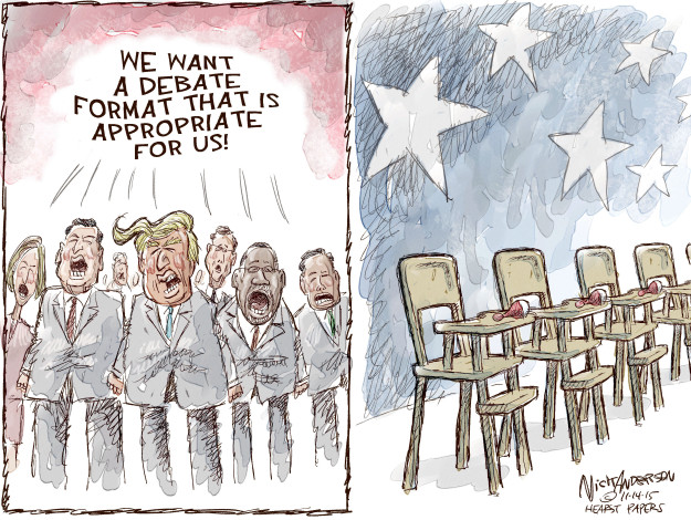 Cartoonist Nick Anderson  Nick Anderson's Editorial Cartoons 2015-11-04 presidential candidate