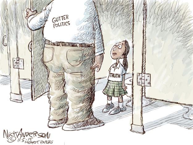 Cartoonist Nick Anderson  Nick Anderson's Editorial Cartoons 2015-11-05 truth
