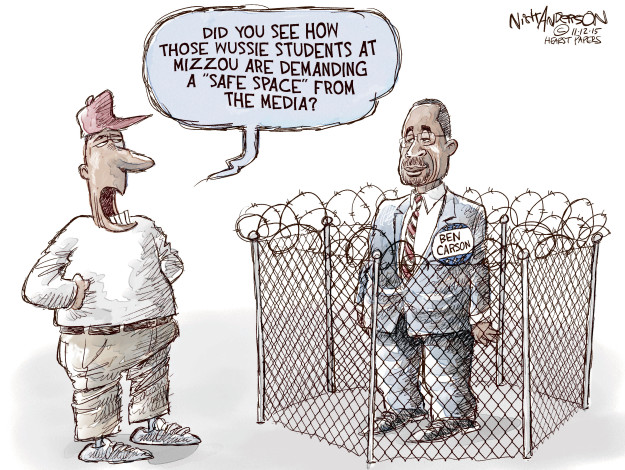 Cartoonist Nick Anderson  Nick Anderson's Editorial Cartoons 2015-11-12 Ben Carson