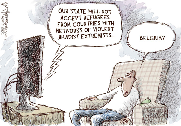 Cartoonist Nick Anderson  Nick Anderson's Editorial Cartoons 2015-11-18 extremist