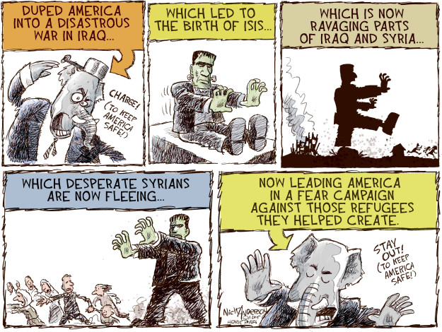 Cartoonist Nick Anderson  Nick Anderson's Editorial Cartoons 2015-11-20 republican politician
