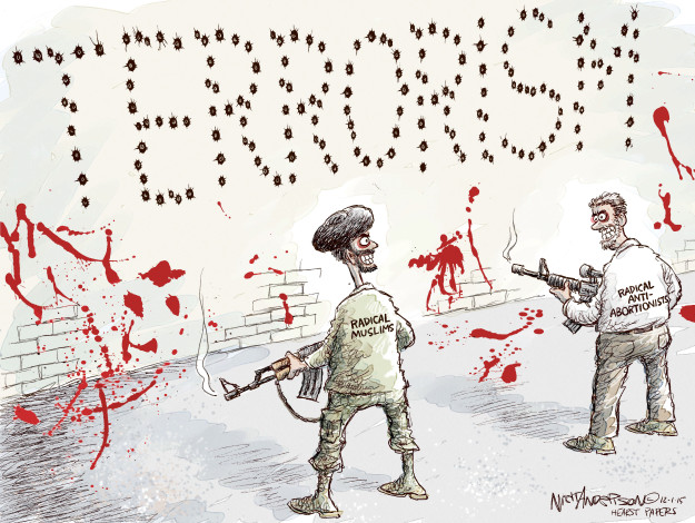 Cartoonist Nick Anderson  Nick Anderson's Editorial Cartoons 2015-12-01 freedom