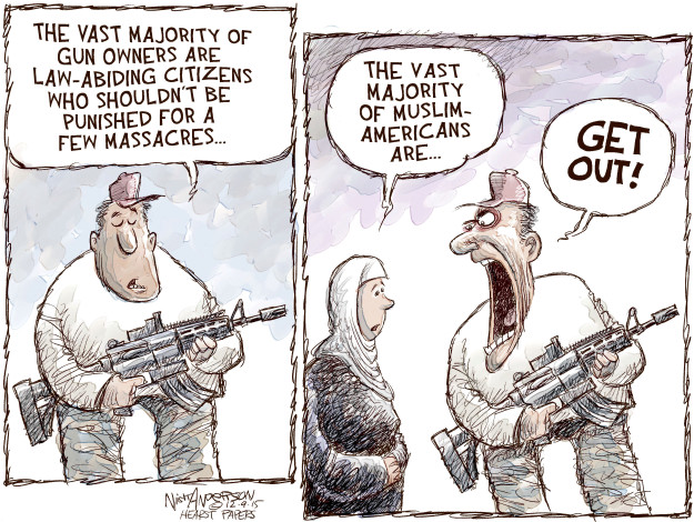 Cartoonist Nick Anderson  Nick Anderson's Editorial Cartoons 2015-12-09 gun control