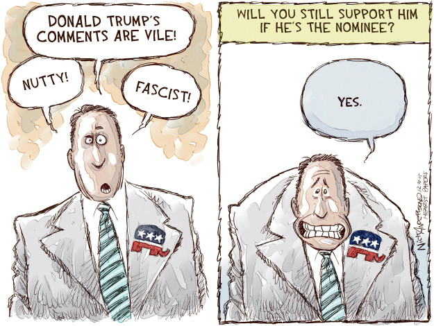 Cartoonist Nick Anderson  Nick Anderson's Editorial Cartoons 2015-12-10 primary election