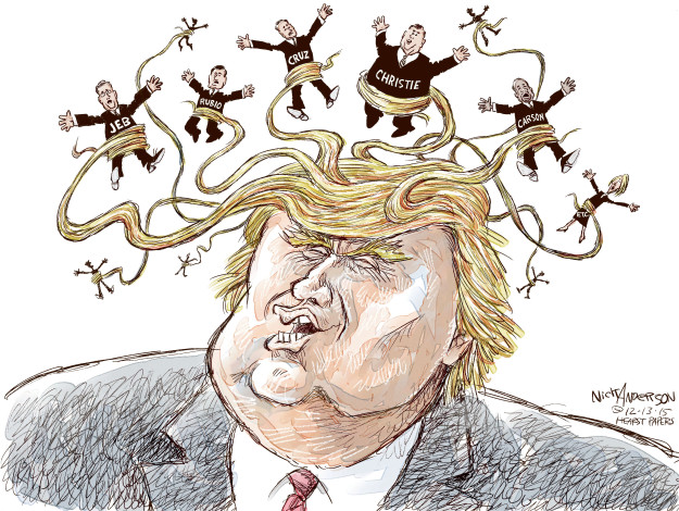 Nick Anderson  Nick Anderson's Editorial Cartoons 2015-12-13 Donald Trump hair