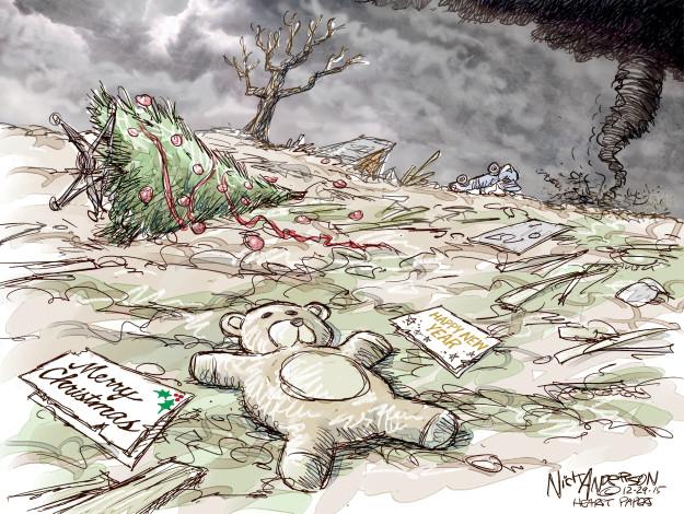 Cartoonist Nick Anderson  Nick Anderson's Editorial Cartoons 2015-12-29 Christmas tree