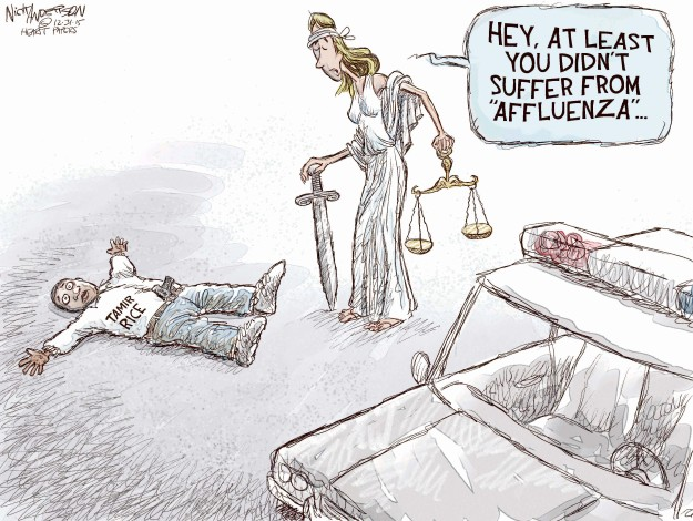 Cartoonist Nick Anderson  Nick Anderson's Editorial Cartoons 2015-12-31 inequality
