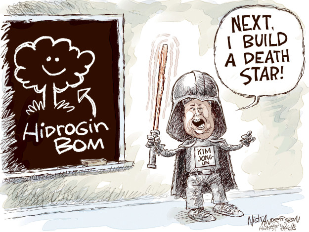 Cartoonist Nick Anderson  Nick Anderson's Editorial Cartoons 2016-01-07 bomb