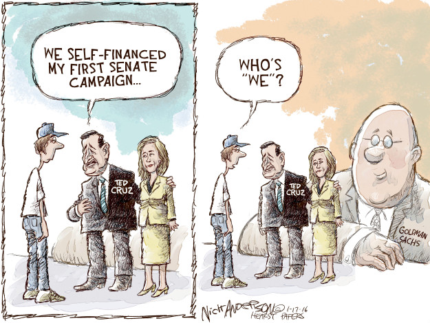 Cartoonist Nick Anderson  Nick Anderson's Editorial Cartoons 2016-01-17 Obamacare jobs