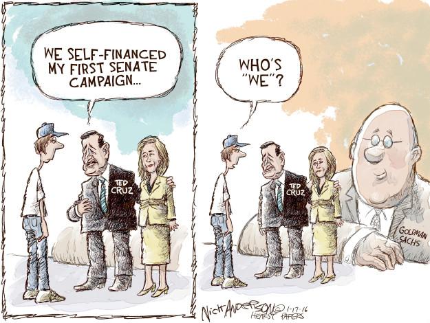Cartoonist Nick Anderson  Nick Anderson's Editorial Cartoons 2016-01-17 Ted Cruz