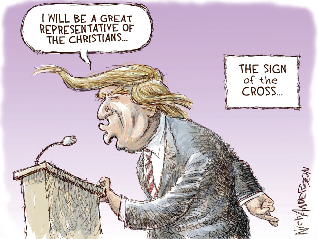Nick Anderson  Nick Anderson's Editorial Cartoons 2016-01-19 christianity