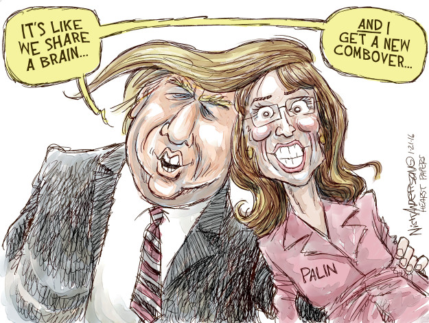 Nick Anderson  Nick Anderson's Editorial Cartoons 2016-01-21 Donald Trump hair