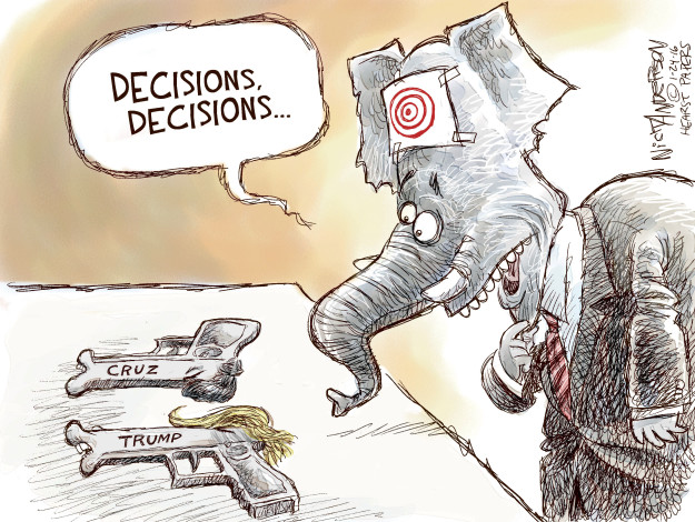 Cartoonist Nick Anderson  Nick Anderson's Editorial Cartoons 2016-01-24 Ted Cruz