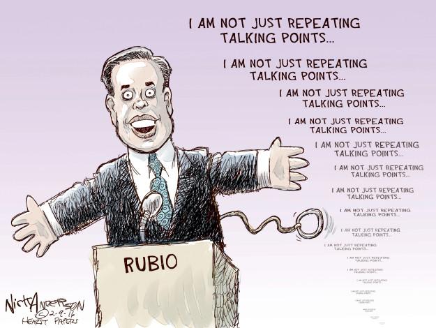 Cartoonist Nick Anderson  Nick Anderson's Editorial Cartoons 2016-02-09 republican debate