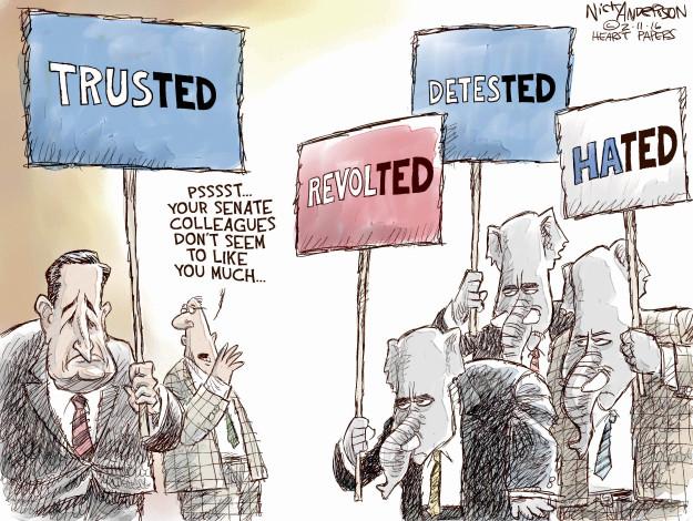 Cartoonist Nick Anderson  Nick Anderson's Editorial Cartoons 2016-02-11 2016 Election Ted Cruz