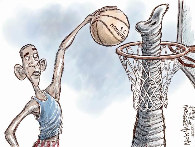 Cartoonist Nick Anderson  Nick Anderson's Editorial Cartoons 2016-02-16 opponent