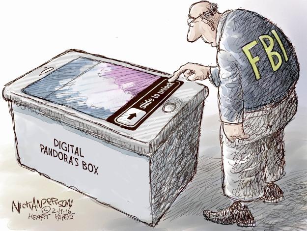 Cartoonist Nick Anderson  Nick Anderson's Editorial Cartoons 2016-02-19 FBI