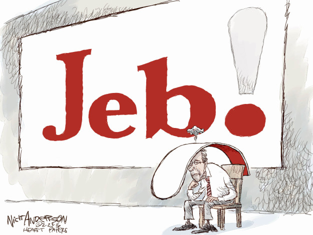 Nick Anderson  Nick Anderson's Editorial Cartoons 2016-02-23 2016 election Jeb Bush