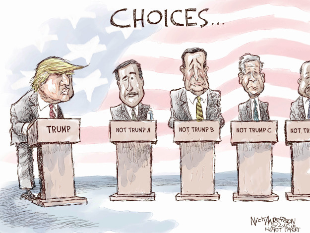 Cartoonist Nick Anderson  Nick Anderson's Editorial Cartoons 2016-02-25 primary election