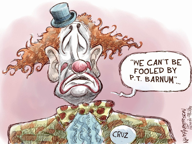 Cartoonist Nick Anderson  Nick Anderson's Editorial Cartoons 2016-02-28 primary election