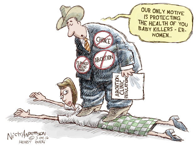 Cartoonist Nick Anderson  Nick Anderson's Editorial Cartoons 2016-03-04 woman