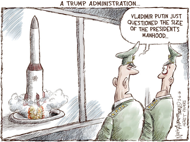 Cartoonist Nick Anderson  Nick Anderson's Editorial Cartoons 2016-03-06 question
