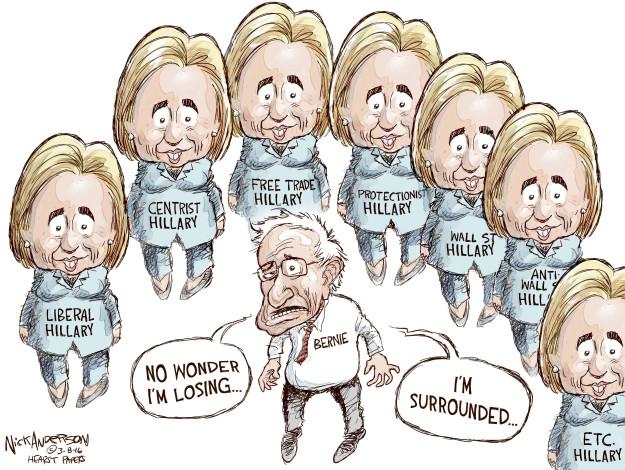 Nick Anderson  Nick Anderson's Editorial Cartoons 2016-03-08 Bernie Sanders