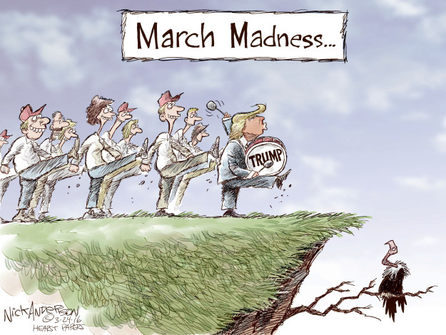 March Madness.  Trump.