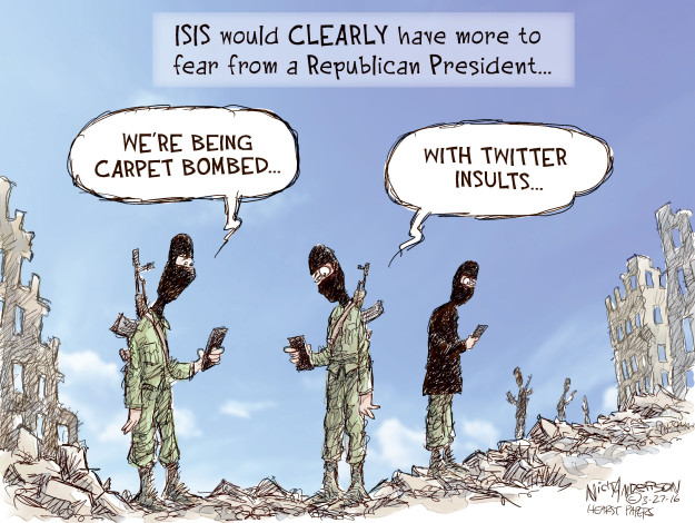 Cartoonist Nick Anderson  Nick Anderson's Editorial Cartoons 2016-03-27 bomb