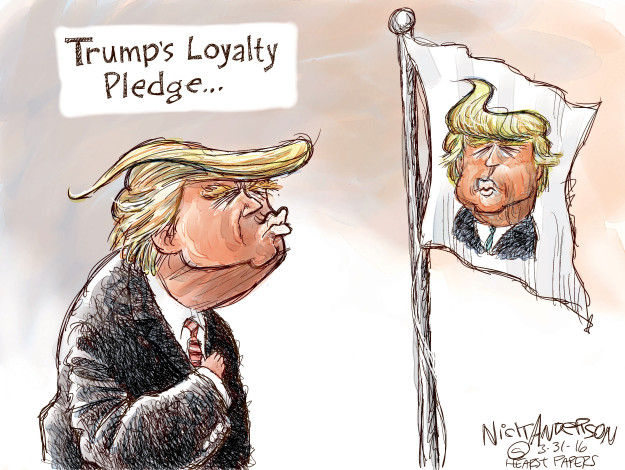 Cartoonist Nick Anderson  Nick Anderson's Editorial Cartoons 2016-03-31 loyalty
