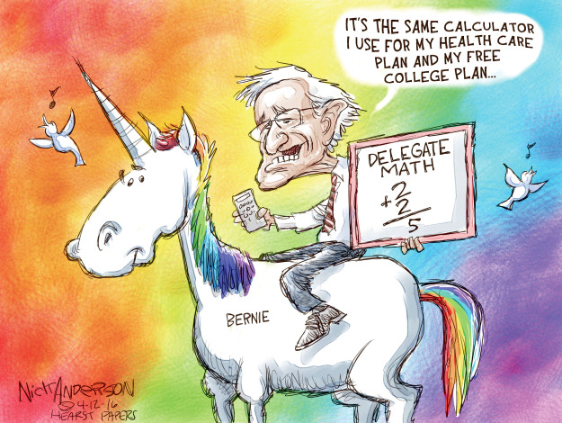 Nick Anderson  Nick Anderson's Editorial Cartoons 2016-04-12 2016 delegate math